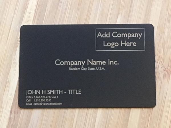 Matte Black Metal Business Card template #2