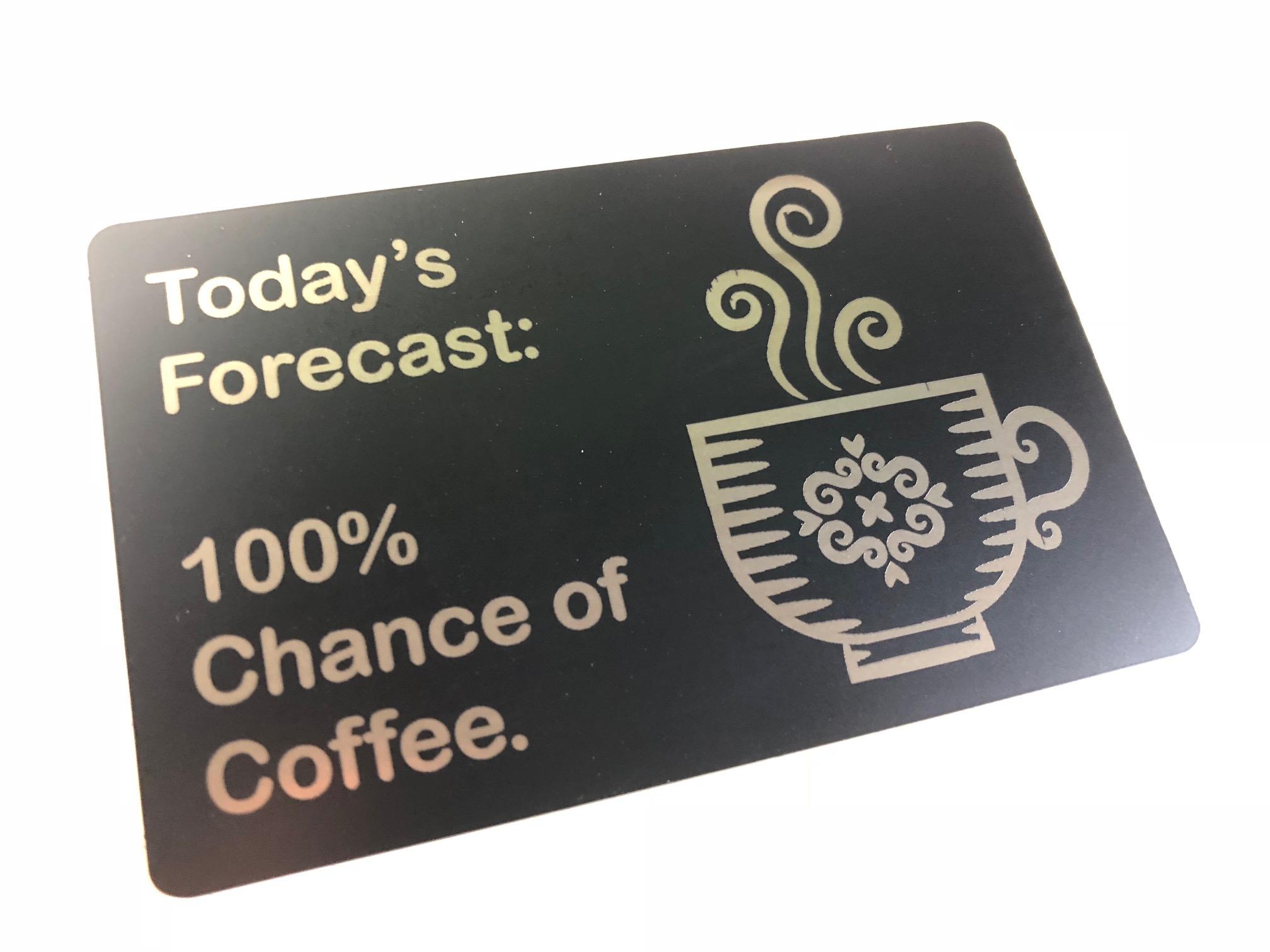 custom metal coffee card
