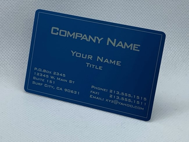 Custom Metal Business Card