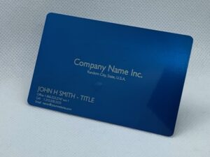 custom metal business cards